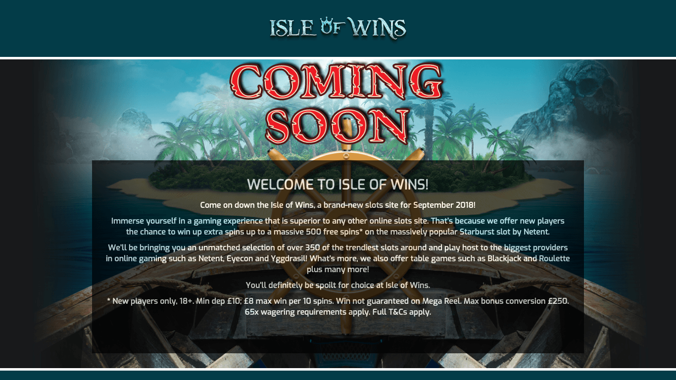 Isle of Wins on laptop