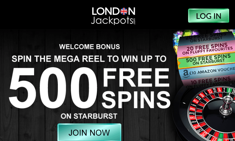 London Jackpots on tablet