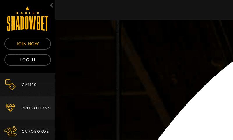 ShadowBet on tablet