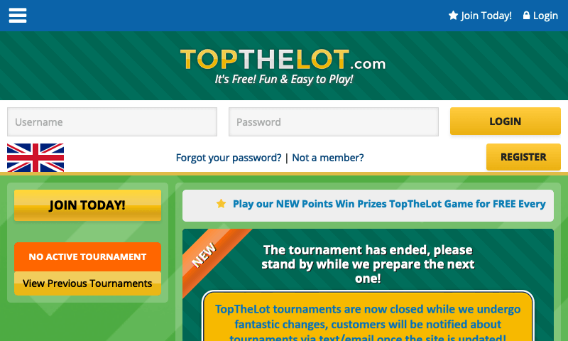 TopTheLot on tablet