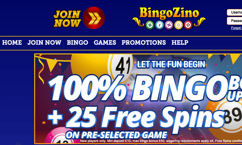 Bingo Zino on tablet