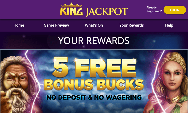 Kingjackpot on tablet