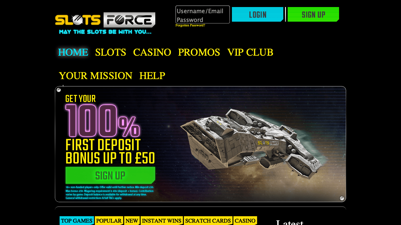 Slots Force on laptop