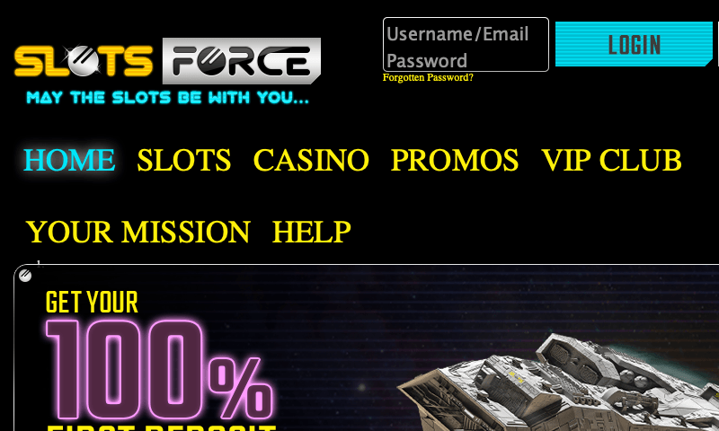 Slots Force on tablet