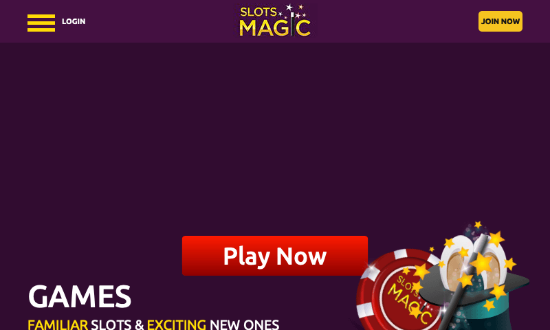 Slots Magic on tablet