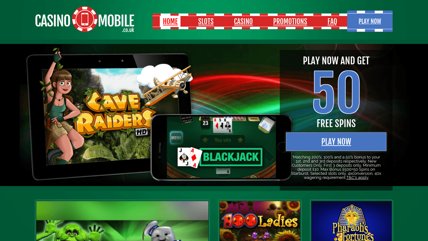 Casino Mobile on laptop