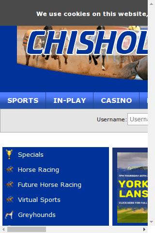 Chisholm Bet Mobile Image