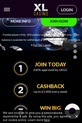 XL Casino Mobile Image