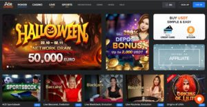 ace casino desktop screenshot