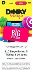 dinky bingo mobile screenshot