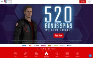 captain spins laptop screenshot 2021