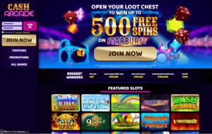 cash arcade laptop screenshot 2021