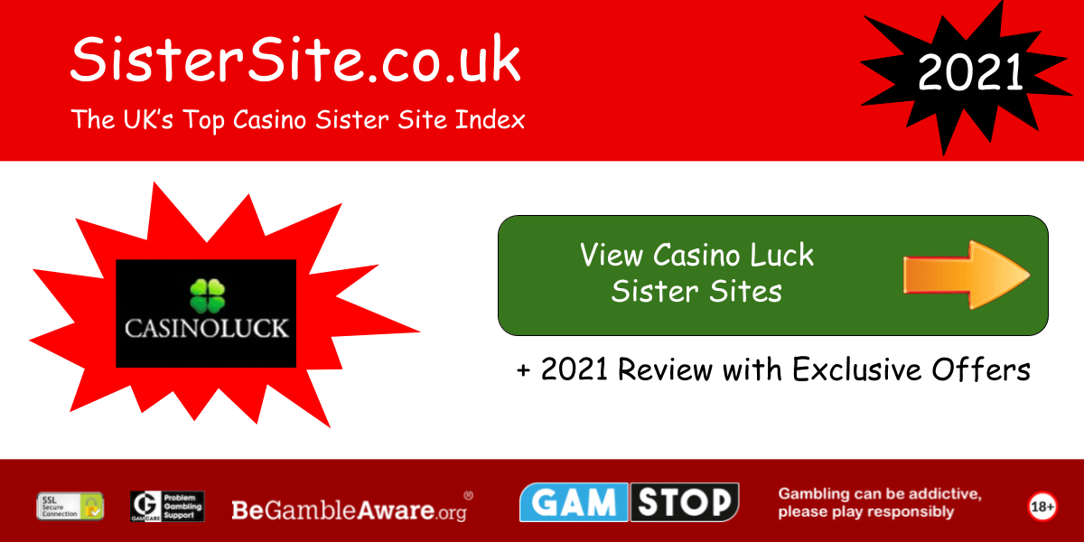 casino luck sister sites 2021