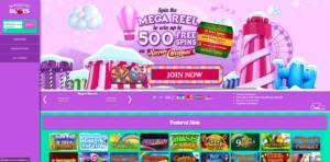 fairground slots laptop screenshot 2021