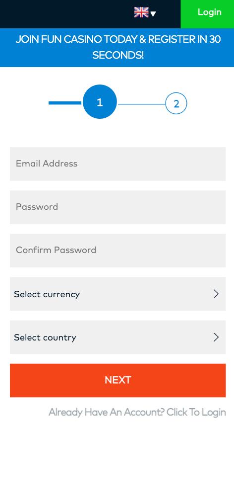 fun casino mobile screenshot 2021