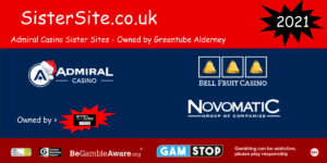 list of admiral casino sister sites 2021