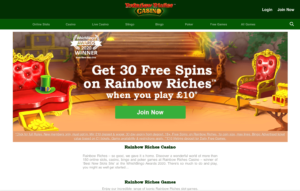 rainbow riches casino laptop screenshot 2021