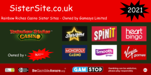 list of rainbow riches casino sister sites 2021